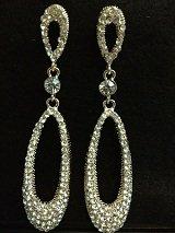 Tear Drop Earrings With Crystal Sets