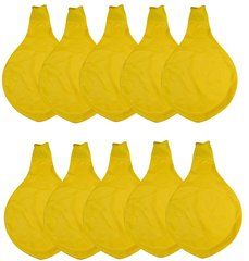 36 Inch Giant Latex Balloon Yellow (Premium Helium Quality) Pkg/10