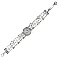Ginger Snaps 1 SNAP PEARL BRACELET Interchangeable Jewelry Snap Accessory