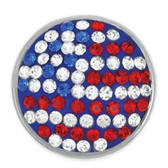 Ginger Snaps USA FLAG SUGAR SNAP Interchangeable Jewelry Snap Accessory