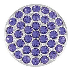Ginger Snaps RITZY - TANZANITE Interchangeable Jewelry Snap Accessory