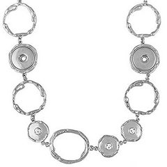 Ginger Snaps 3 SNAP STATION NECKLACE Interchangeable Jewelry Snap Accessory