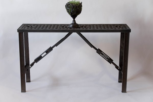 Custom Reclaimed Side Table From Salvaged Grates First Pick