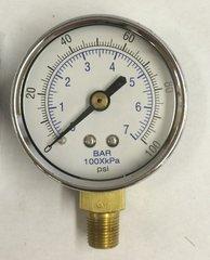 """GA183 - 0-100 PSI Gauge, 1/8"""" NPT (M)"""
