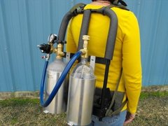315JR-283 - backpack w/ 3liter bottle & 2.5lb co2 cylinder brackets