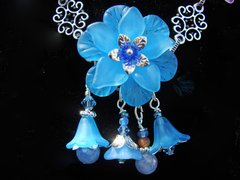 Summer Flower Beaded Bouquet Necklace