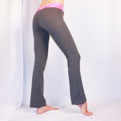 Rollwaist Pant in Grey/Pink
