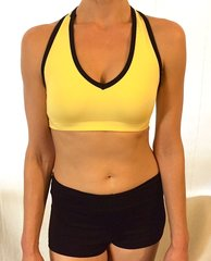 Rosa V Neck Bra in Black and Yellow