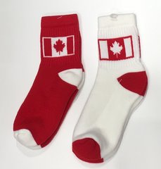 Canadian flag sox