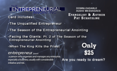 The Entrepreneurial Anointing