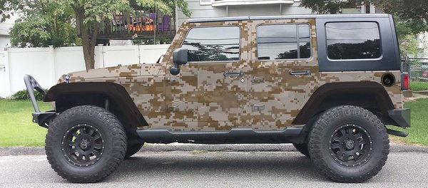 Desert Storm Camouflage Jeep Wrangler Wrap Kit Check Out