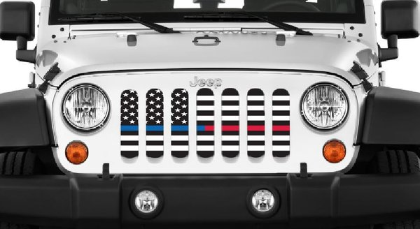 Quot American Black And White Btblue Red Quot Grille Insert By