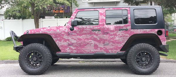 Pink Digital Camo Camouflage Jeep Wrangler Wrap Kit