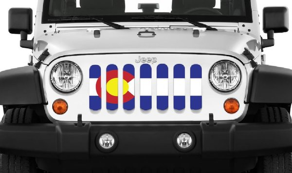 Colorado State Flag Jeep Wrangler Grille Insert By Dirty