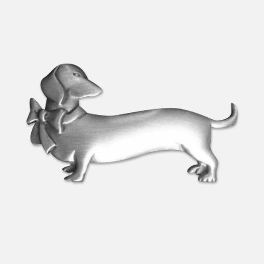Dachshund Pin with bow
