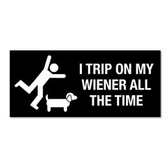 I Trip on my Wiener all of the time Magnet