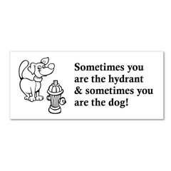 Sometimes you are the dog, sometimes you are the hydrant Magnet