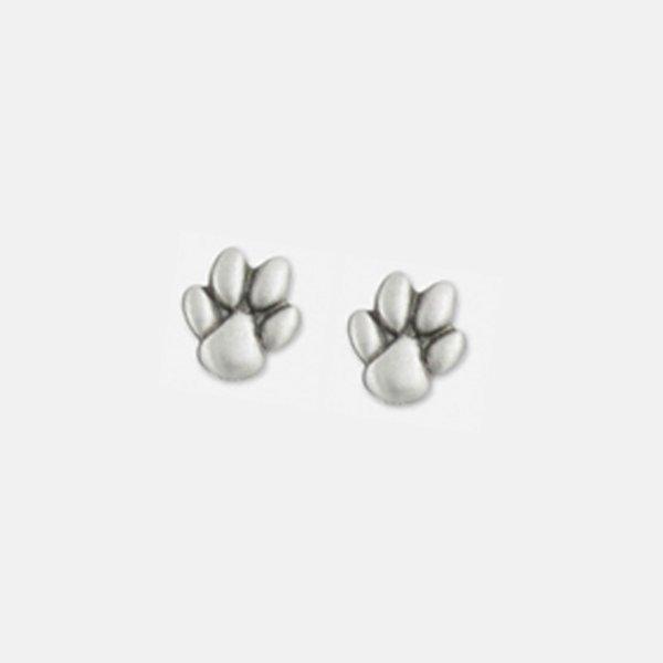 Dog Paw Earring Pewter