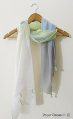 Lime Ombre Tasseled Scarf