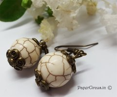 White Turquoise Earrings