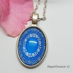 Cabochon Neck-Piece Blues D5