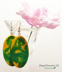 Oval - Lime Pebble