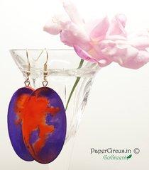 Oval - Orange Purple Pebble