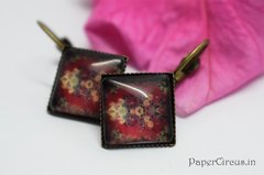 Cabochon Square Earring D8