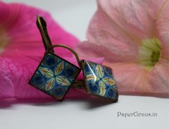 Cabochon Square Earring D1