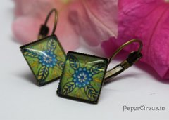 Cabochon Square Earring D3