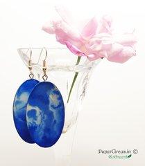 Oval - Blue Pebble