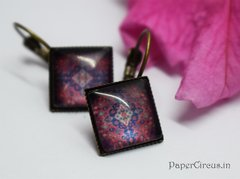 Cabochon Square Earring D10