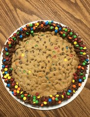 "10"" M&M Chocolate Chip Cookie Cake"