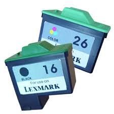 Lexmark 16 10N0016 Black 26 10N0026 Tri-Color Compatible Inkjet Cartridge