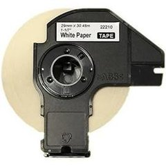 """Brother DK2210 (4 Pack) 1.1"""" x 100' 29mm x 30.4m Compatible Continous Length White Paper Tape with Cartridges."""