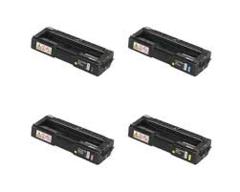 Ricoh 406046 Black 406047 Cyan 406048 Magenta 406049 Yellow Compatible Toner Cartridge
