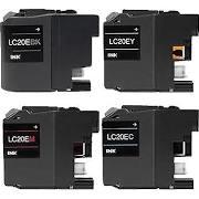 Brother LC20eBK Black LC20eC Cyan LC20eM Magenta LC20eY Yellow LC20eXXL Compatible Inkjet Cartridge