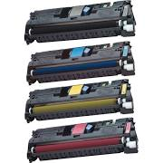 HP C9700A (121A) Black, C9701A Cyan, C9702A Yellow, C9703A Magenta Compatible Toner Cartridge. HP C9704A Compatible Drum Unit.