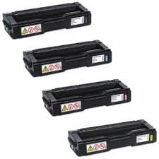 Ricoh 407539 Black 407540 Cyan 407541 Magenta 407542 Yellow Compatible Toner Cartridge