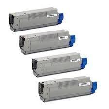 Okidata 43487736 Black, 43487735 Cyan, 43487734 Magenta, 43487733 Yellow Compatible Laser Toner Cartridge
