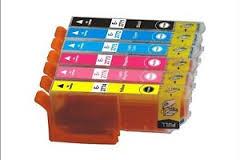 Epson 277XL T277XL120 Black T277XL220 Cyan T277XL320 Magenta T277XL420 Yellow T277XL520 Lt. Cyan T277XL620 Lt. Magenta Compatible Inkjet Cartridge