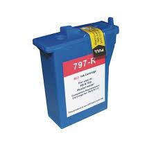 Pitney Bowes 797-0 797-M 797-Q Compatible Red Digital Postage Meter Ink Cartridge