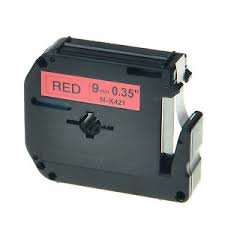 Brother MK421 Compatible RL-BR Black on Red 9MMX8M Label Tape