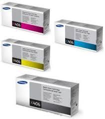 OEM Samsung CLT-K406S Black CLT-C406S Cyan CLT-M406SA Magenta CLT-Y406S Yellow Laser Toner Cartridge
