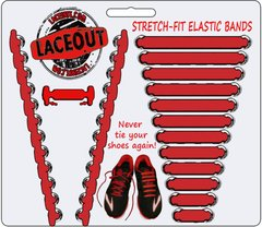 LaceOut, Red elastic shoelaces for your running or vans shoes