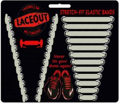 LaceOut, White elastic shoelaces for your running or vans shoes
