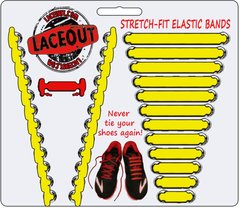 LaceOut, Yellow elastic shoelaces for your running or vans shoes