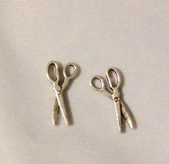 1167. Antique Silver Scissor Pendant