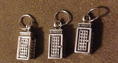 219. Phone Booth Dr. Who 'Tardis' Pendant