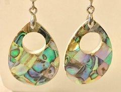 1658. Abalone Shell Drop Earrings